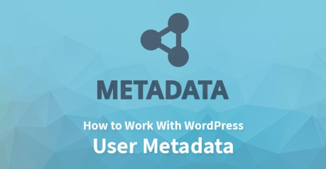 Work With WordPress User Metadata