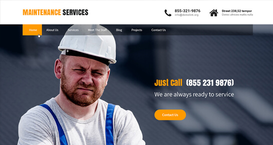Maintenance Services WordPress theme