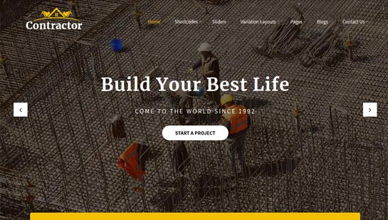 Contractor WordPress theme