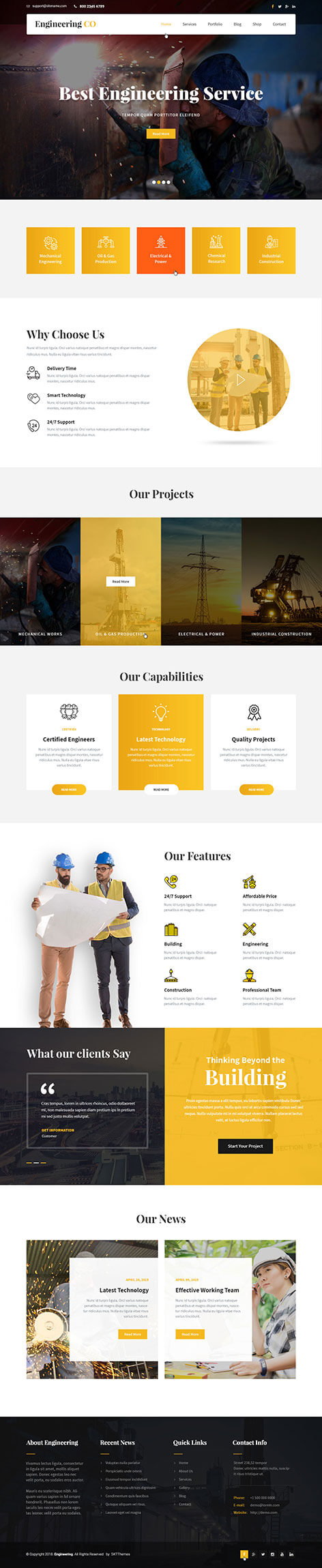 Engineering WordPress theme