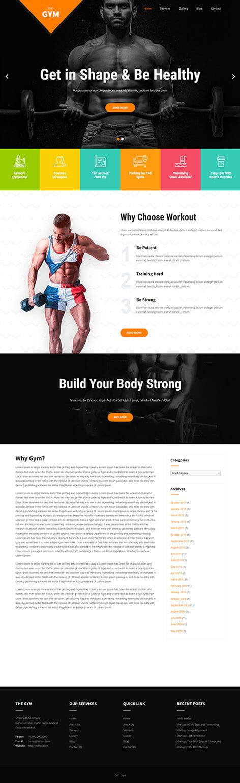 free gym WordPress theme