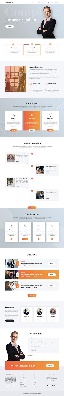 Complete WordPress theme