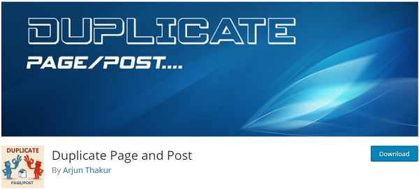 WordPress duplicate page plugin