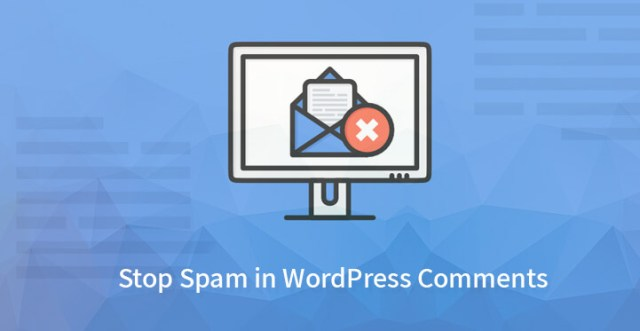 Stop spam in WordPress comments