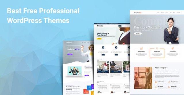 Best free professional WordPress themes