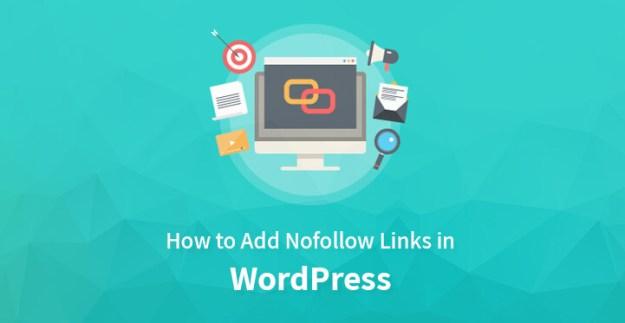 add nofollow links in WordPress