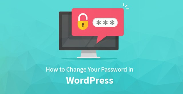 change your password in WordPress