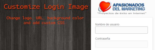 customize login page image