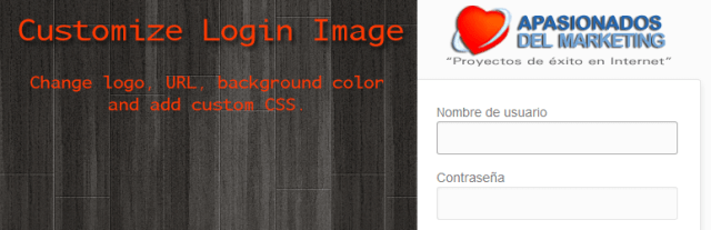 customize login page image