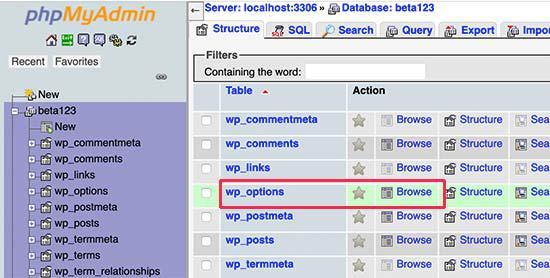 deactivate WordPress plugins PHPMyAdmin