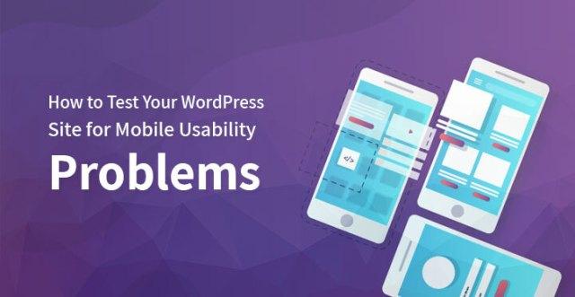 WordPress mobile usability problems