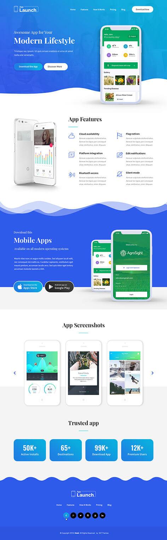 app portfolio WordPress theme