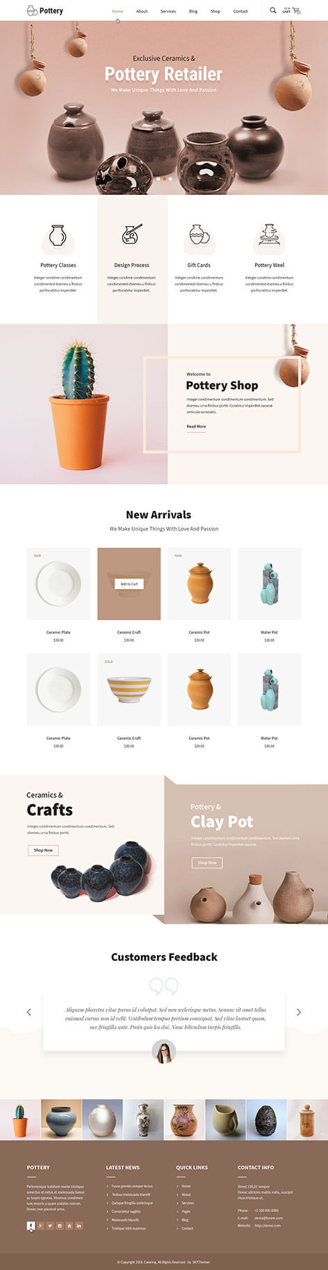 Pottery WordPress theme
