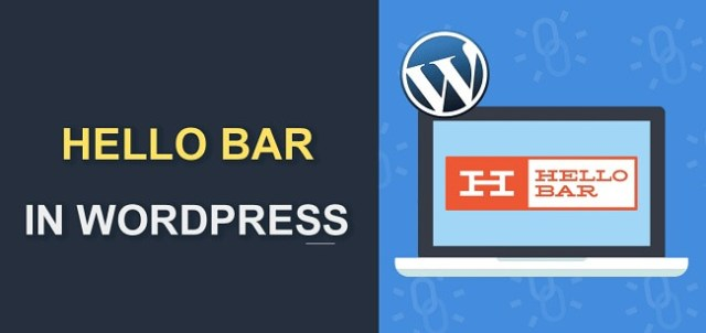 Hello bar to generate leads