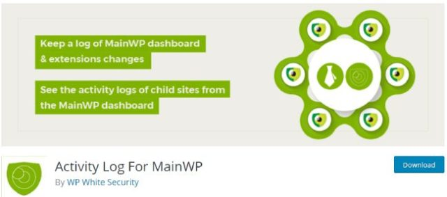 activity log for mainWP