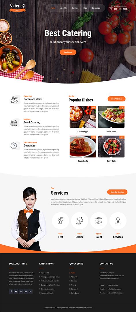 free catering WordPress theme