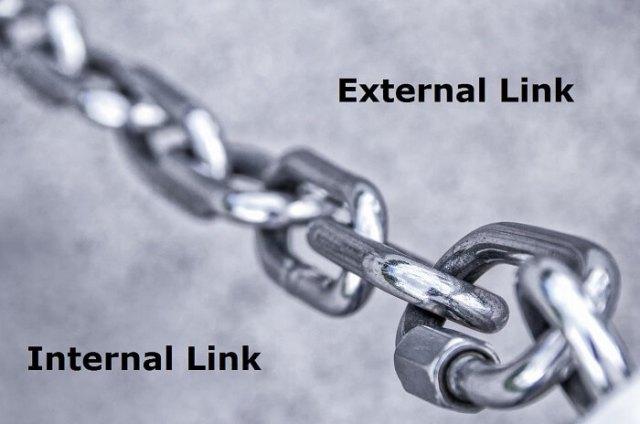 external and internal links in WordPress