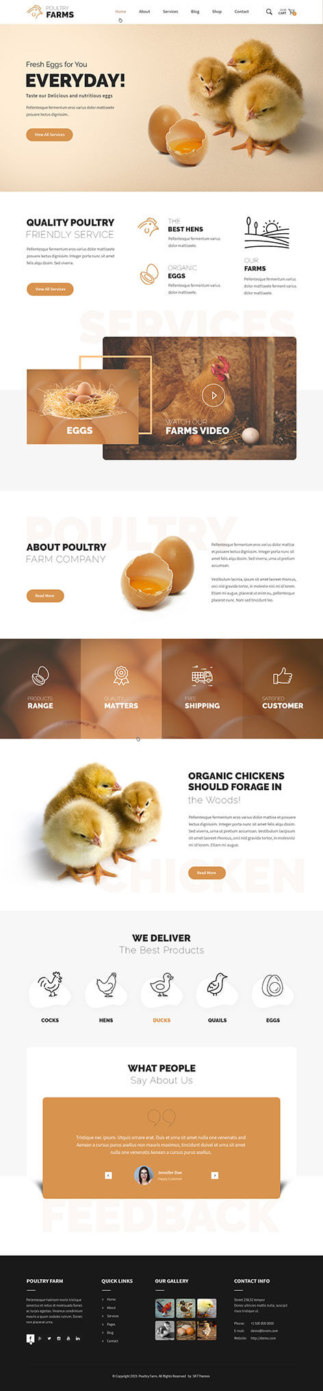 poultry farm WordPress theme