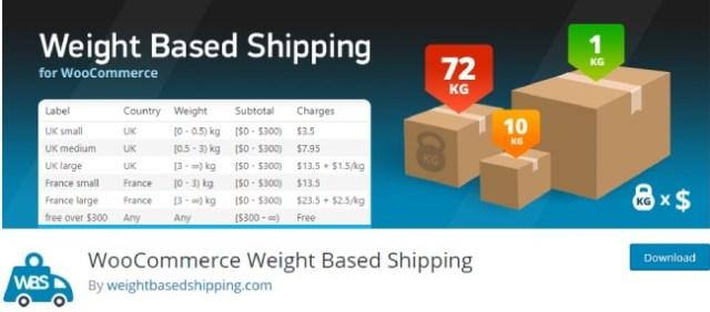 woocommerce weight based shipping