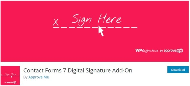 Contact Forms 7 Digital Signature Add-On