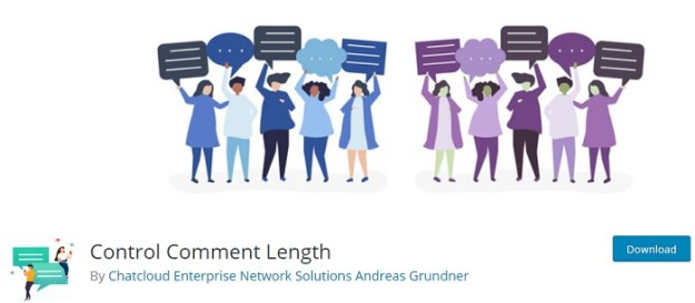 Control comment length