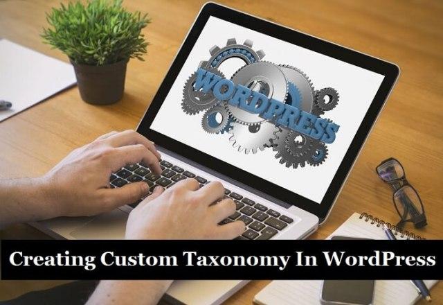 Custom Taxonomy In WordPress