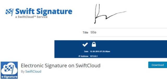Electronic Signature on SwiftCloud