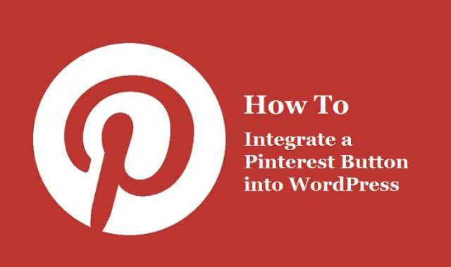 Integrate a Pinterest Button