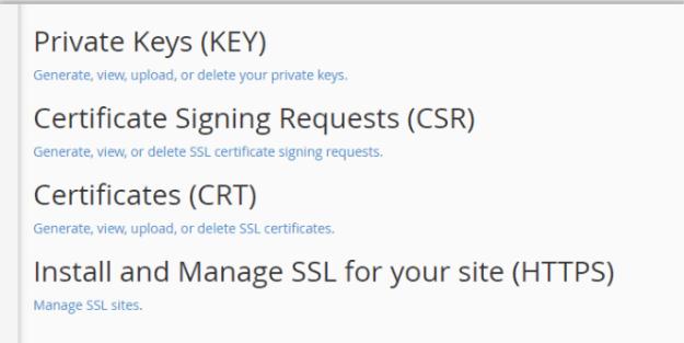 SSL provide