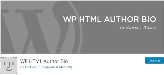 WP HTML Author Bio