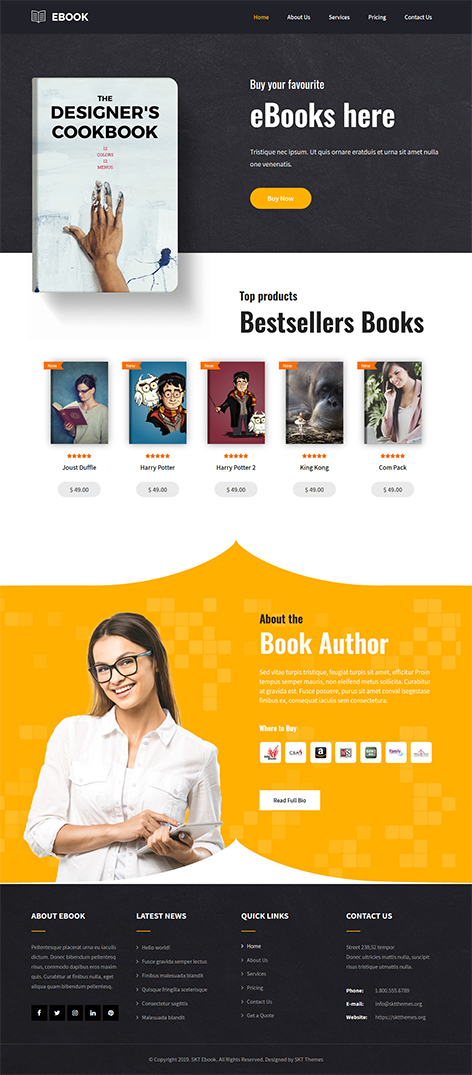 free ebook WordPress theme