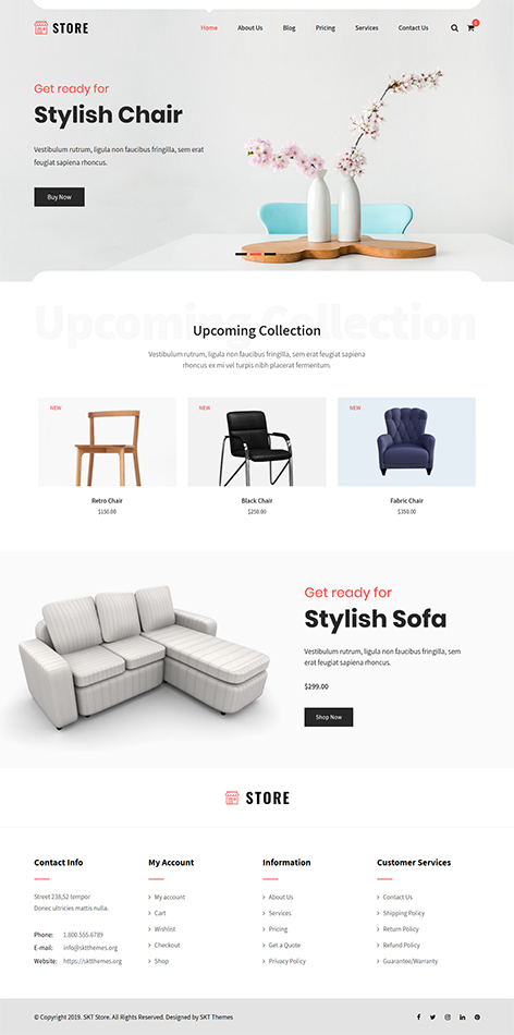 free WordPress store theme
