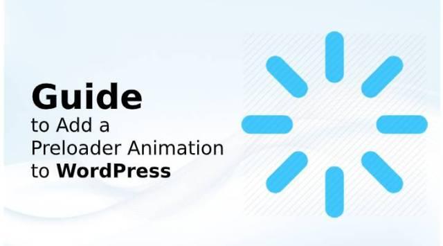 Preloader Animation to WordPress