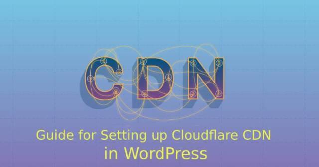 Cloudflare CDN in WordPress