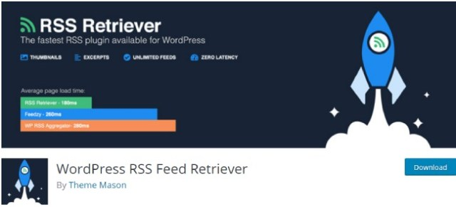 wordpress RSS feed retriver