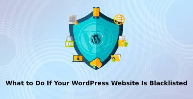 WordPress website is blacklisted