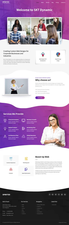 free responsive corporate WordPress theme
