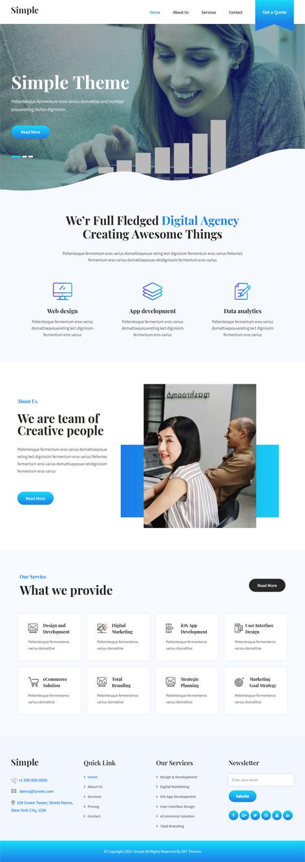 free simple WordPress theme