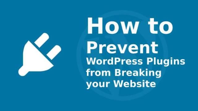 Prevent WordPress Plugins