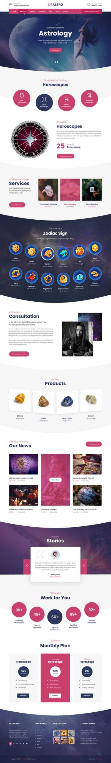 psychic reader WordPress theme