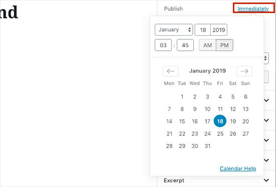 schedule date time