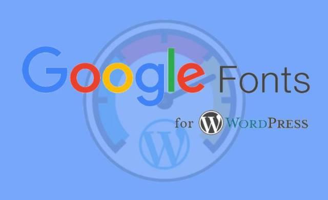 speed up Google fonts in WordPress