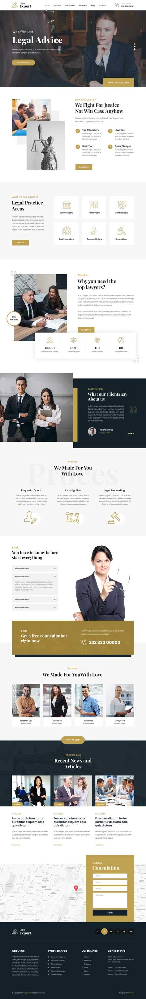 legal firm WordPress theme