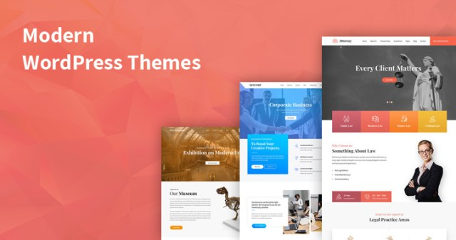 modern WordPress themes