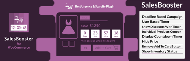 Woo Commerce Countdown Timer, Enquiry Form, Exit pop up – WP sales booster