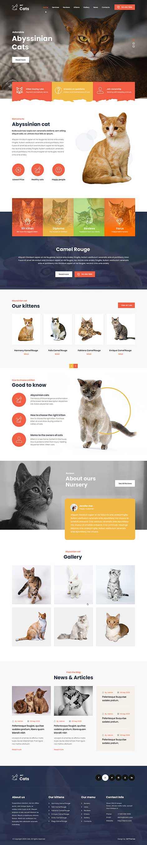 cat breeding WordPress theme