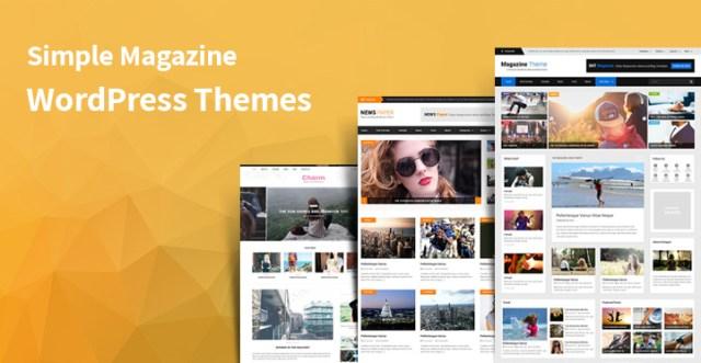 simple magazine WordPress themes