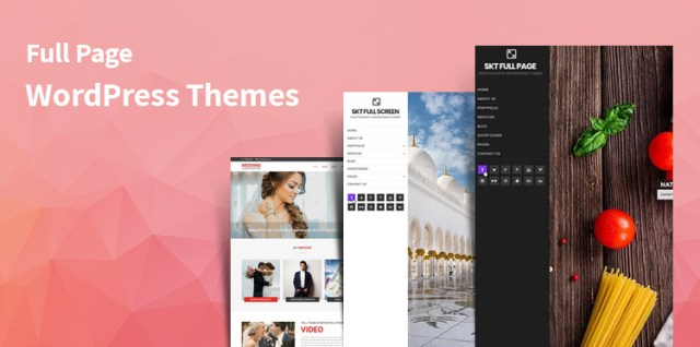 full page WordPress themes