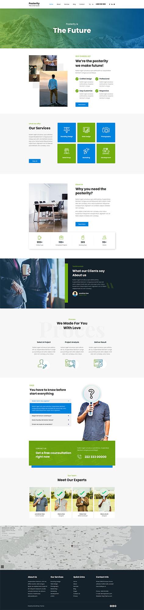 free creative agency WordPress theme
