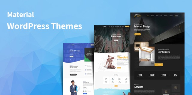 material WordPress themes